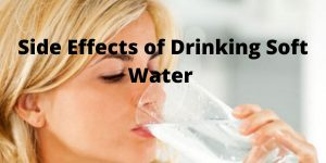 side effects of drnking softened water